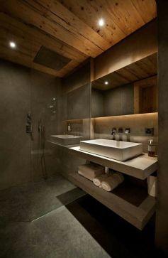 bano-gris-oscuro-con-techado-en-madera